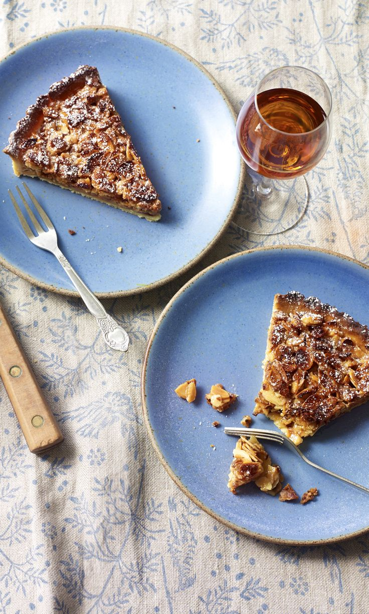 This almond tart is about as easy as it gets. Serve with a dollop of ice cream and some sweet sherry.