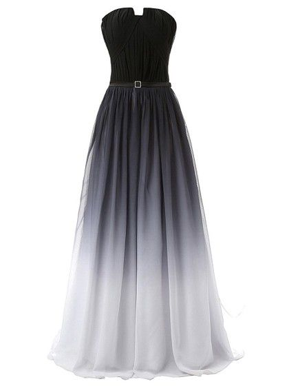 Original A-line Strapless Multi Colours Chiffon Sashes / Ribbons Sweep Train Backless Formal Dresses, #formaldressaustralia, #formal, #dress, #glittering, #exclusive, #luxury