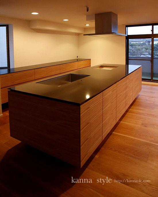 アイランドキッチン | 神戸のオーダー家具【kanna】テレビボード・テーブル・キッチン等をあなた好みに提案する家具屋