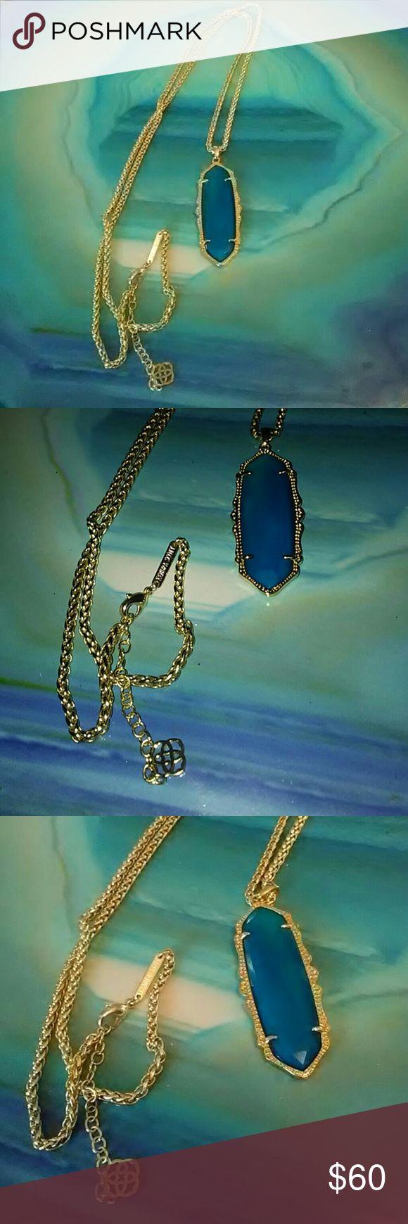 Kendra Scott Teal Agate Frances Necklace Kendra Scott Teal Agate Frances Necklace Kendra Scott Jewelry Necklaces