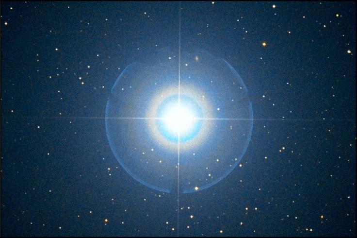 Der Polarstern.  Alpha Ursa Minoris (Sternbild kleiner Bär)  Quelle: http://www.sternpate.de/xist4c/web/Kleiner-Baer---Kleiner-Wagen_id_353_.htm