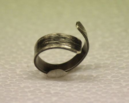 gümüş oksit spiral yüzük - silver ring