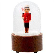 Mountie Nutcracker Snow Globe
