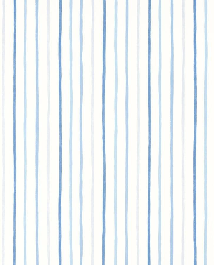 Painterly Stripe Blue Wallpaper In 2021 Blue Wallpapers Blue Stripes Wallpaper Blue striped wallpaper for bathrooms
