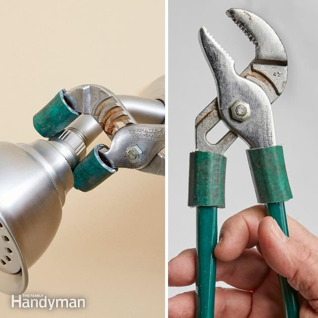 Here's an oldie with a twist. Use pieces of garden hose or other tubing to soften the jaws of slip-joint or other pliers so you can grip plated surfaces without damage. The twist