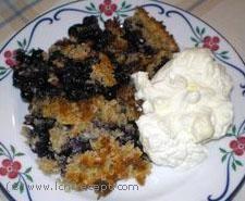 Berry cobbler / Smulpaj: 150g blueberries/raspberries/ 25-50g butter 3 dl c