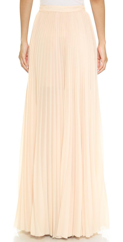 Tess Giberson Long Pleated Skirt | SHOPBOP
