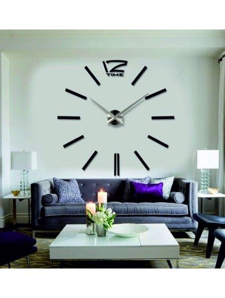 Nalepovací hodiny noc je tmavá. Barva černá. Hodiny pro děti jako obraz.  Kód: 12S003B-S WALL CLOCK  Stav: Nový produkt  Dostupnost: Skladem  Vyber si barvu podle sebe! Přišel čas zútulnit si své bydlení novými hodinami. Velké nástěnné 3D hodiny jsou krásnou dekorací Vašeho interiéru. Už nikdy nebudete opozdí.