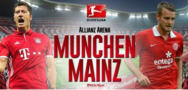 Berita Olaharaga : Preidiksi Bola 22 April 2017 Bayern Munchen vs Mainz 05