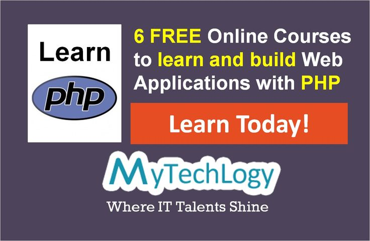 Learn how to build Rich Internet Web Applications with PHP & MySQL using these 6 FREE online courses. Join Today and learn at your convenience!! Visit: http://www.mytechlogy.com/Online-IT-courses-reviews/courses-search/?q=php&type=Free #php #mysql #webdevelopment #elearning #free #onlinecourse #careerdevelopment