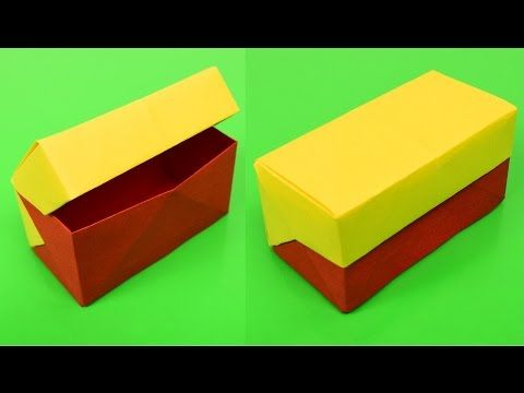 Rectangle Gift Box Origami with Lid - YouTube