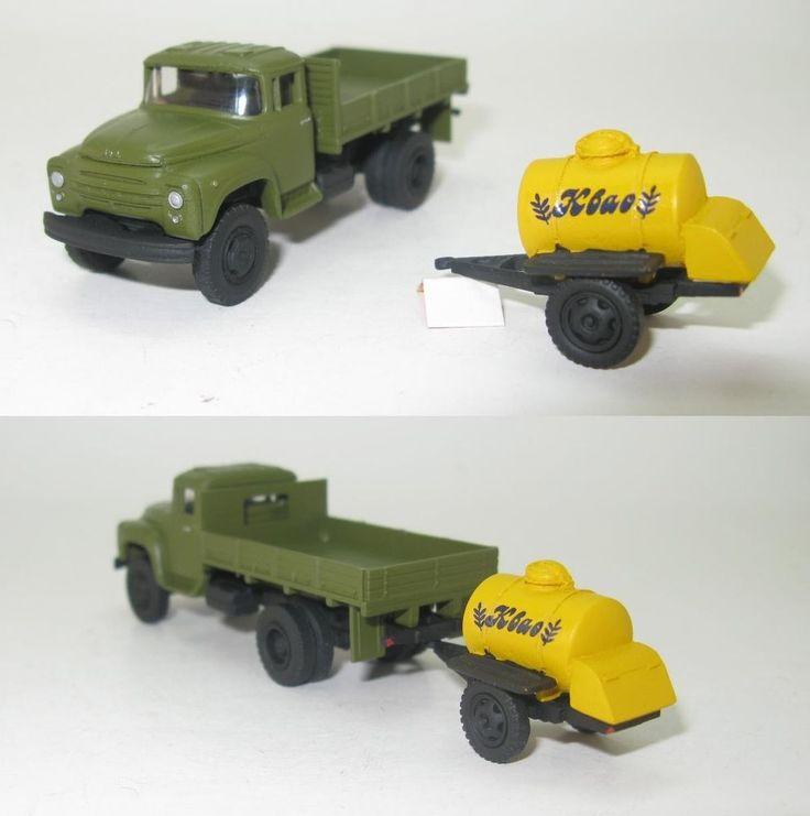 ZIL-130-66 Pritsche mit Tank-Anhanger ACPT-0,9 DDR UdSSR - 1:87 HO