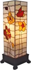 Tiffany Style Table Lamp Accent Hurricane Stained Glass Art Mission Craftsman