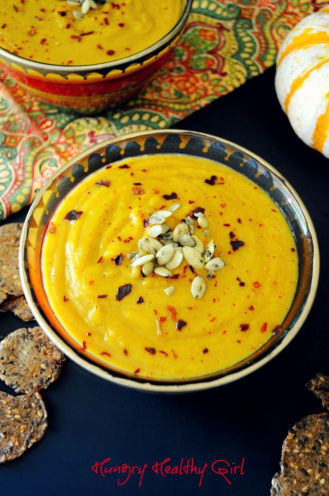 Autumn Squash Soup- A tasty soup with lovely Fall flavors! Copycat Paradise Bakery Autumn Soup