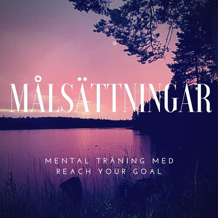 Reach Your Goal - Mental träning - Målsättningar
