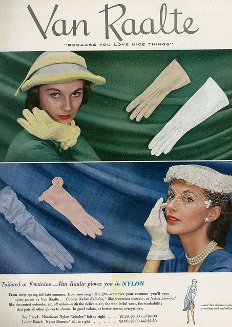 Van Raalte: Raalt Gloves, Vintage Gloves, Gloves Ads, Gloves Vintage, 1951 Vans, Women Vans, Nylons Gloves, Vans Raalt, Vintage Style