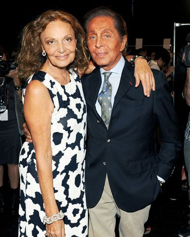 Diane von Furstenberg Front Row -   Diane von Furstenberg and Valentino Garavani #nyfw