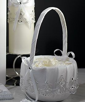 jeweled flower girl basket