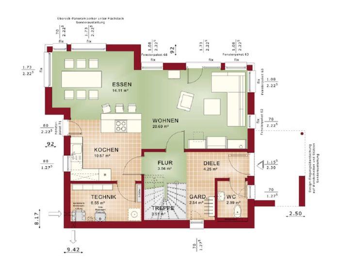 7 best Haus images on Pinterest - offene kuche wohnzimmer grundriss