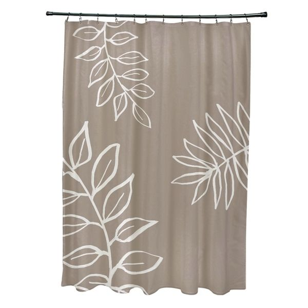 Leaf pattern shower curtain by e by design bath decor and bath - Www curtain design picture ...