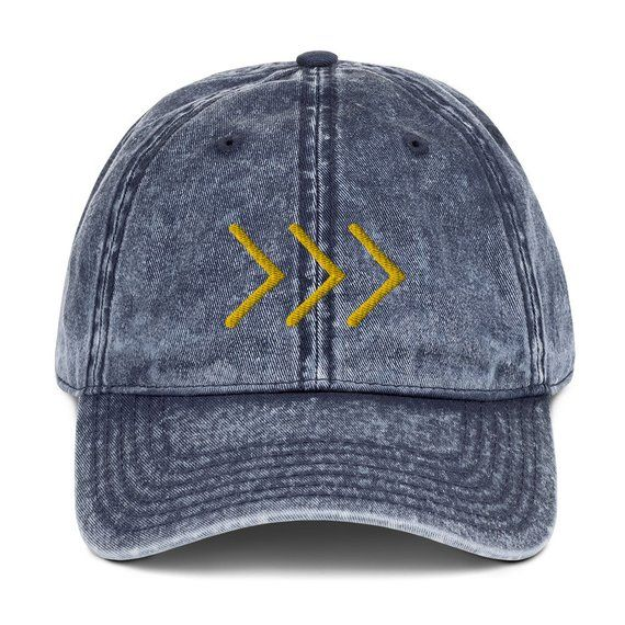 e537fdd4d9211 Gold yellow arrows in 3D embroidery on this hat symbolize Trisomy 21. This  a perfect