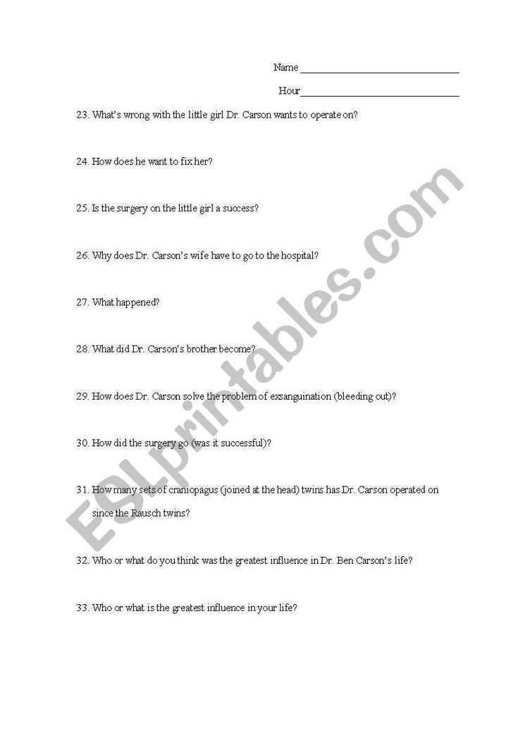 Gifted Hands Worksheet Answers Prehension Questions for ...