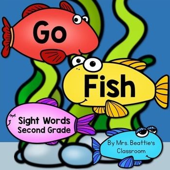 """Sight Words: Sight Word """"Go Fish"""" includes the entire second grade sight word list (see list below) in both color and black and white versions.Use these cards a variety of ways, all year long!-Go Fish-labels for maps and posters-matching games-flash cards-memory games-spelling reference-use any way you wish!This set is available with all my Sight Word Go Fish games (Pre-Primer to Third Grade) in a money-saving BUNDLE!Be sure to take a look at the preview!Includes the following…"""