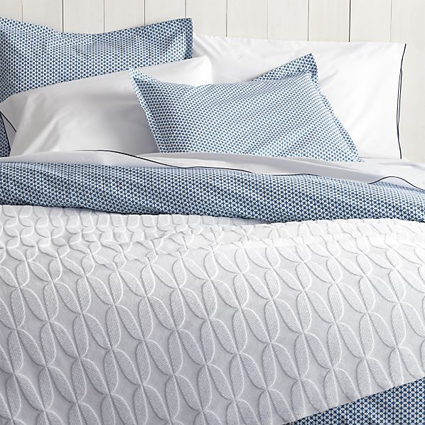 crate and barrel Lille King Duvet Cover