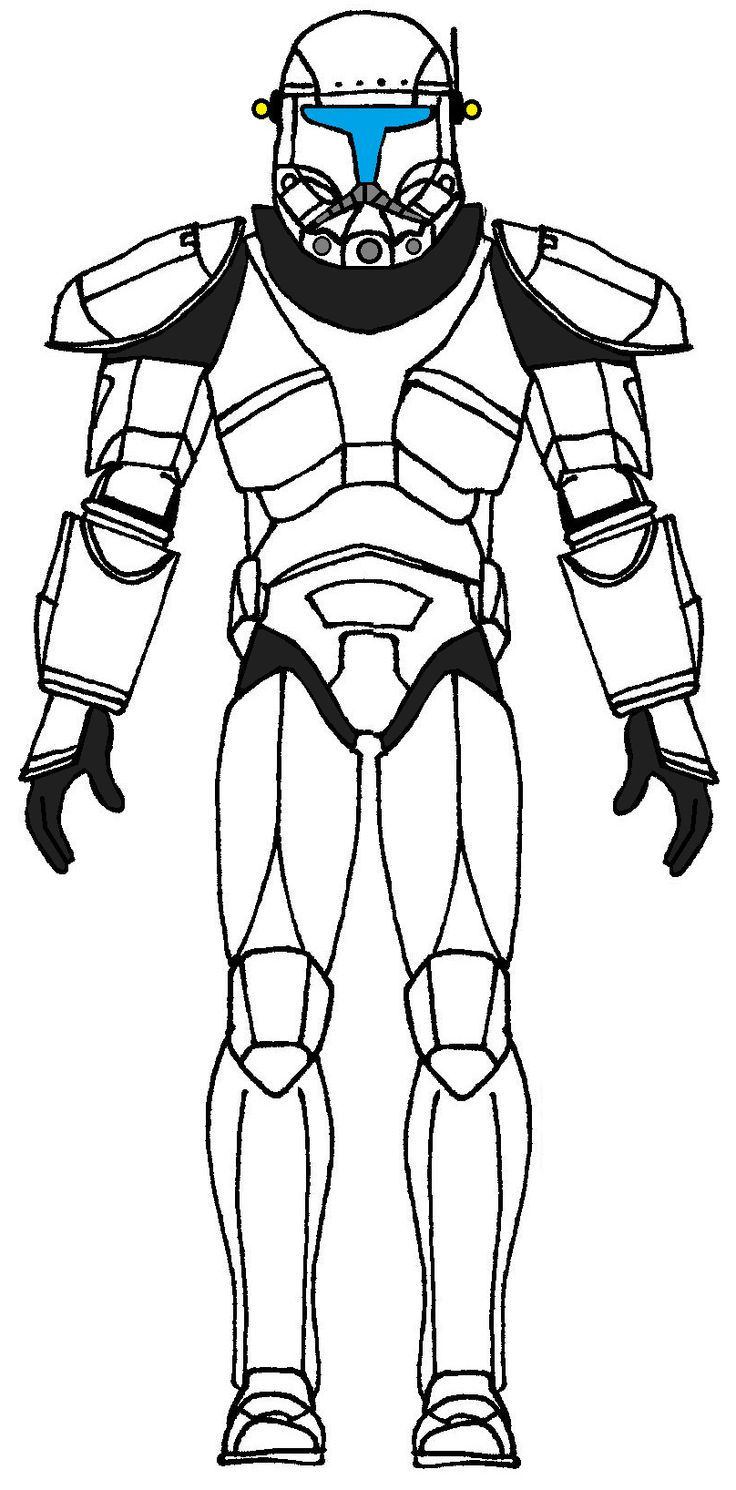 Free clone trooper coloring pages - Clone Trooper Commando