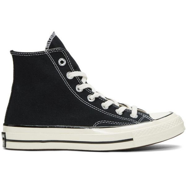 Converse Black Chuck Taylor All-Star 1970s High-Top Sneakers ($72) ❤ liked on Polyvore featuring men's fashion, men's shoes, men's sneakers, black, mens black hi top sneakers, mens black lace up shoes, mens black sneakers, converse mens shoes and mens black shoes