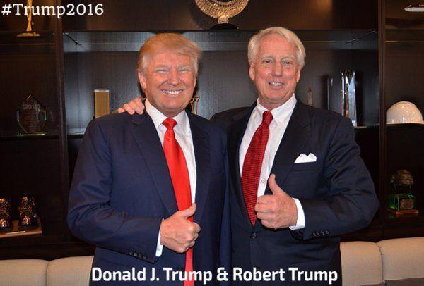 Donald and Robert Trump