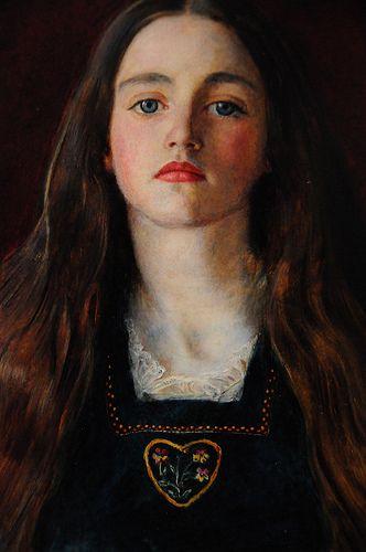 J. E. Millais, Ritratto di Sophie Gray, 1857, Collezione privata. Affascinante ritratto di Sophie Gray, musa meravigliosa e fatale che ispirò molti degli artisti romantici inglesi appartenenti al gruppo dei Preraffaelliti.