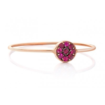 JADA Mira ring with rubies