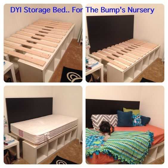 Ze zet een paar IKEA Kallax kasten tegen elkaar aan, het resultaat is perfect voor iedere slaapkamer! - Zelfmaak ideetjes: