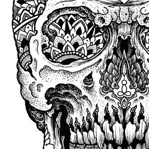Skull design.