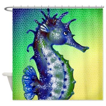 Seahorse shower curtain cool shower curtains pinterest