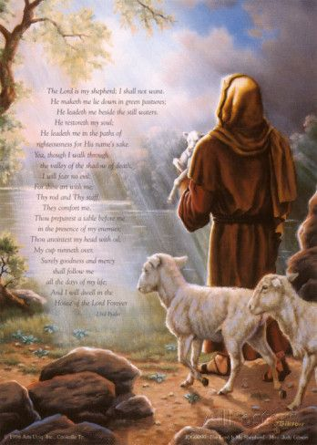 The Lord Is My Shepherd Print by Judy Gibson at AllPosters.com