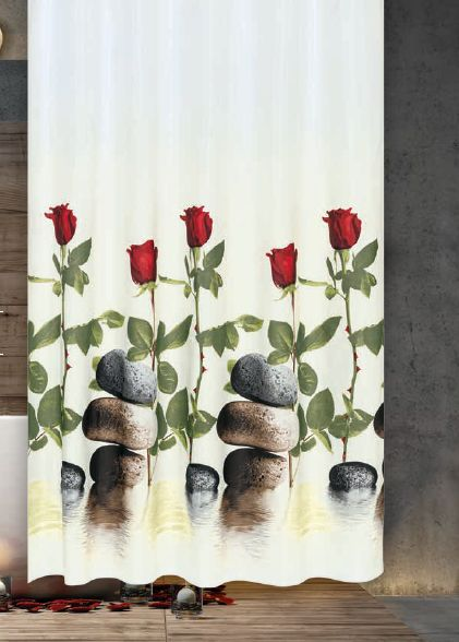 Vörös Rózsák zuhanyfüggöny