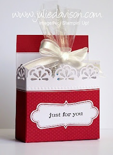 Printable Tutorial to create a box from the pre-printed cards in the Everyday Elegance Simply Sent Kit by Stampin' Up! --design by Julie Davison, http://juliedavison.com
