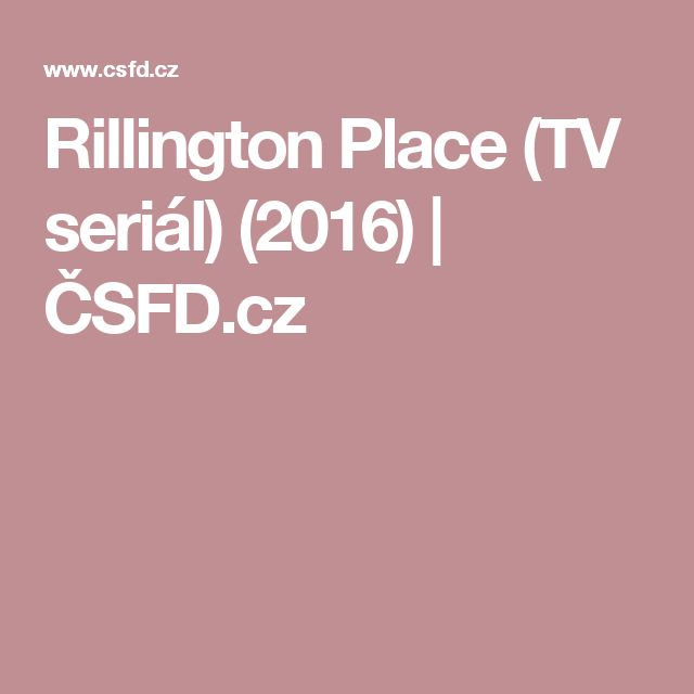 Rillington Place (TV seriál) (2016) | ČSFD.cz
