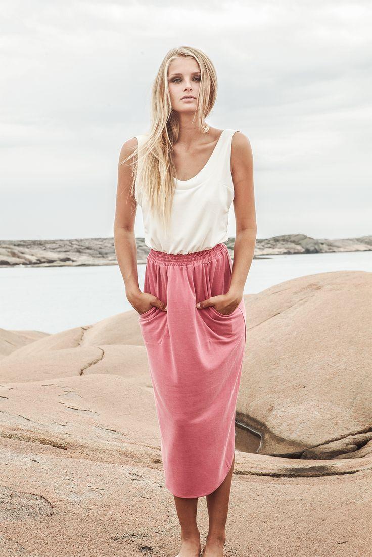 IBEK SS14. Summer dress in super soft suede modal quality. - Shop soon at www.ibek.se -