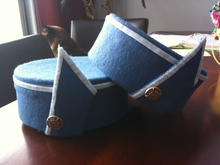 Pan Am Stewardess Hat I made for work.