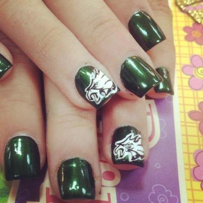 philadelphia eagles nails | Go Eagles on Sunday! -Diane. Photo: The hot design at my nail salon,