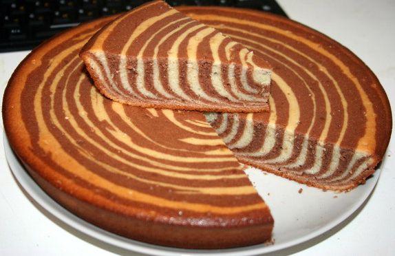 Пирог «Зебра» на кефире | WOOMEDIA.RU
