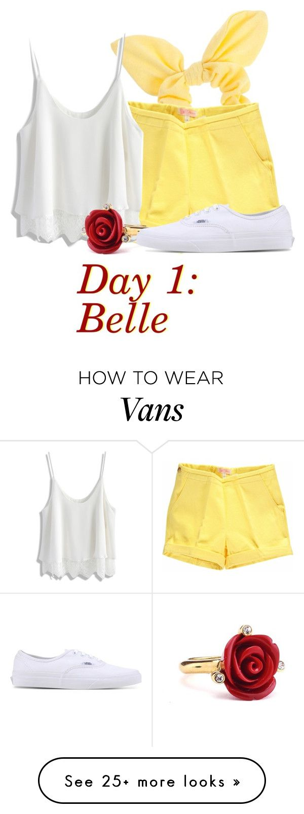 """Belle: Day 1"" by beckthemermaid on Polyvore featuring Dorothy Perkins, Chicwish, Oscar de la Renta and Vans"