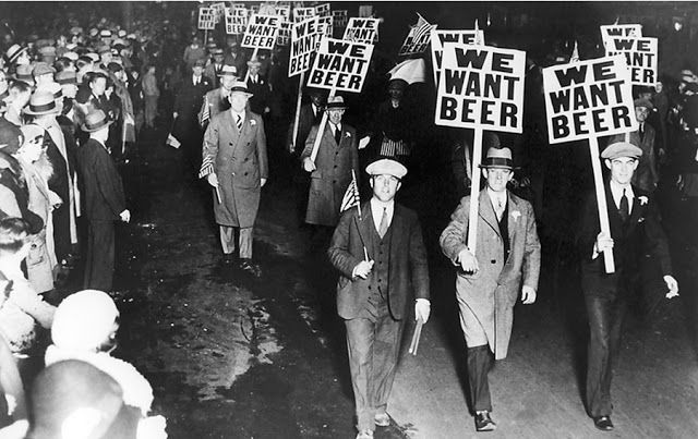 Freedom advocates demand the end of alcohol prohibition, ca. 1930s