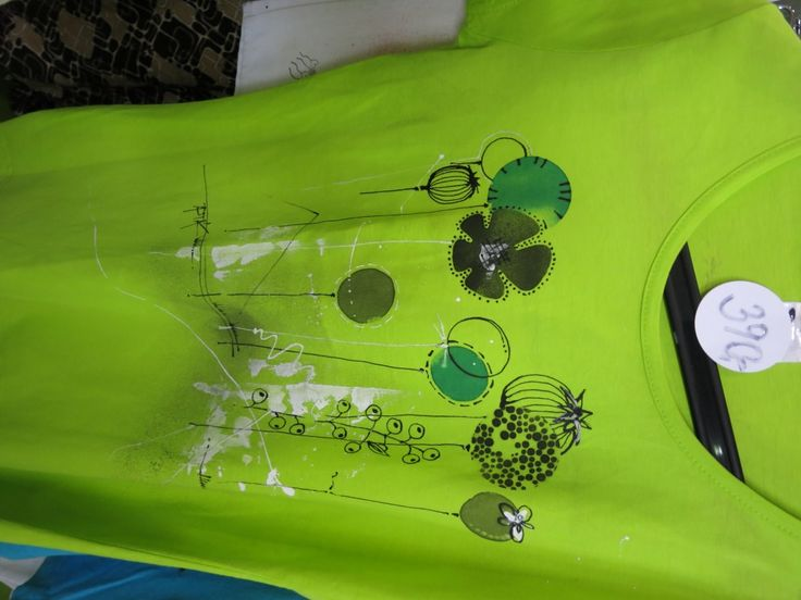 Kreativita hobby květen 2015, triko s květinami