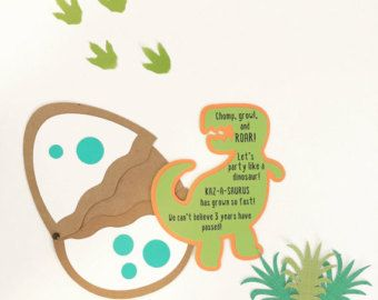 Princess Dinosaur Birthday Invitations baby shower von 3FeetTall