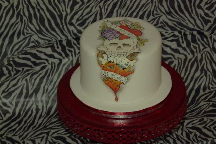 Geschilderde tatoeage taart (dummie)