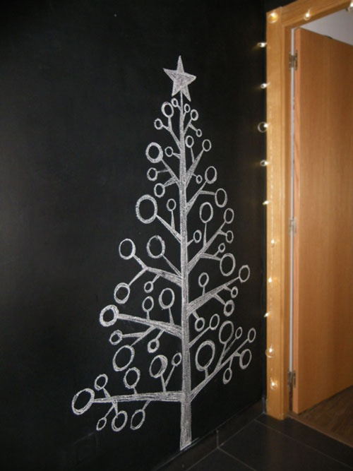 chalk board Christmas tree